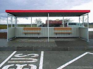 Autobusová zastávka prosklená větší A 952.