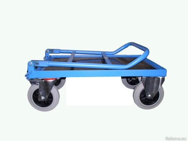 Manipulační, servisní vozík se sklopným čelem a madlem 1000 × 650 mm na 350 kg V 512.