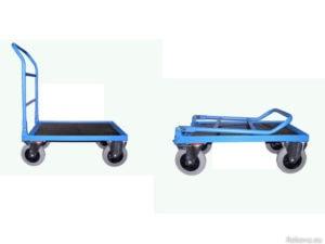 Manipulační, servisní vozík se sklopným čelem a madlem 750 × 500 mm na 350 kg V 511.