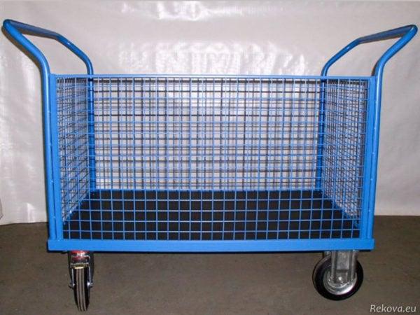 Manipulační vozík s klecí, lakovaný 1200 × 800 mm na 350 kg V 504.