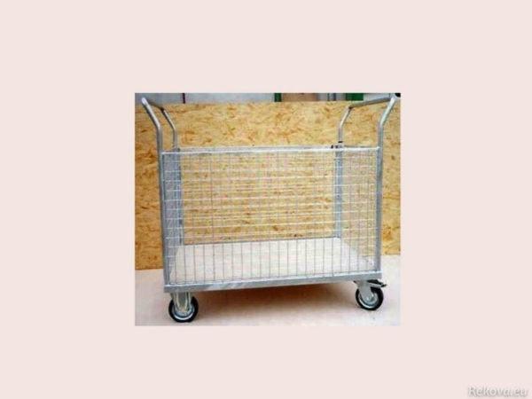 Manipulační vozík s klecí, pozinkovaný 1200 × 800 mm na 350 kg V 503.
