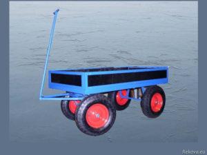 Manipulační vozík s odnímatelnou ojí, bantamová kolečka 1200 × 750 mm na 400 kg V 505.