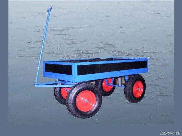 Manipulační vozík s odnímatelnou ojí, bantamová kolečka 1400 × 750 mm na 400 kg V 506.