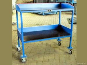 Montážní, servisní vozík dvoupodlažní s bočnicemi 1000 × 500 mm na 200 kg V 508.