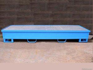 Záchytná vana pro 4 sudy, obdélníková 2500 × 750 × 350 mm ZV 104.
