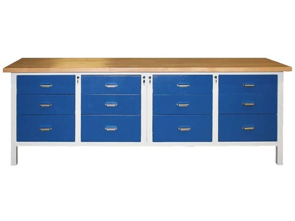 Český ponk, pracovní stůl PO 3333 | 2500 × 600 mm, výška 900 mm.