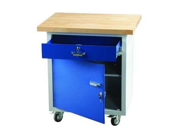 Český ponk, pojízdný stůl PO 11 | 800 × 600 mm, výška 900 mm.