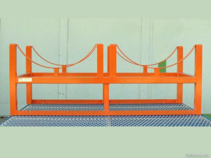 Stáčecí stojan na 2 sudy 1230 × 600 × 320 mm ZV 110.