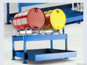 Stáčecí stojan se záchytnou vanou pro 2 sudy 1450 × 1300 × 735 mm ZV 108.