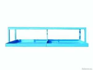 Stáčecí stojan se záchytnou vanou pro 4 sudy 2900 × 1300 × 735 mm ZV 109.
