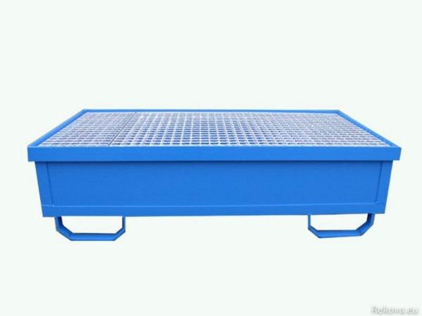 Záchytná vana pro 2 sudy 1250 × 750 × 350 mm ZV 102.