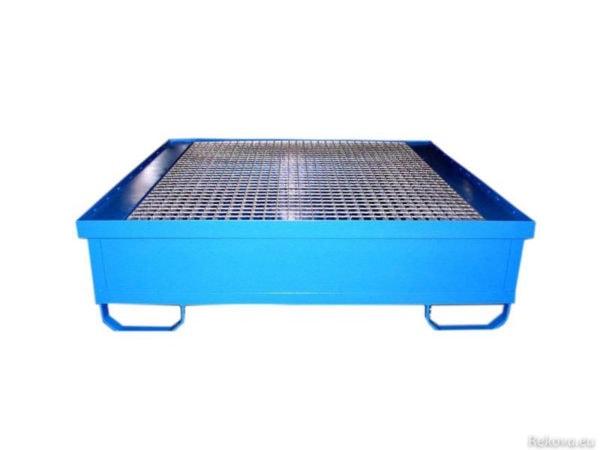 Záchytná vana pro 4 sudy, čtvercová 1250 × 1250 × 350 mm ZV 103.