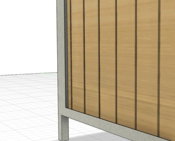 Detail rám konstrukce a výplně